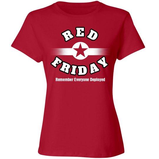 red friday star white