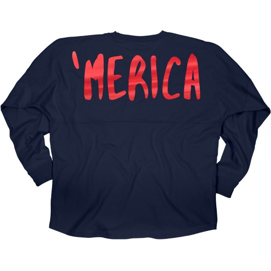 Red Metallic 'Merica Jersey