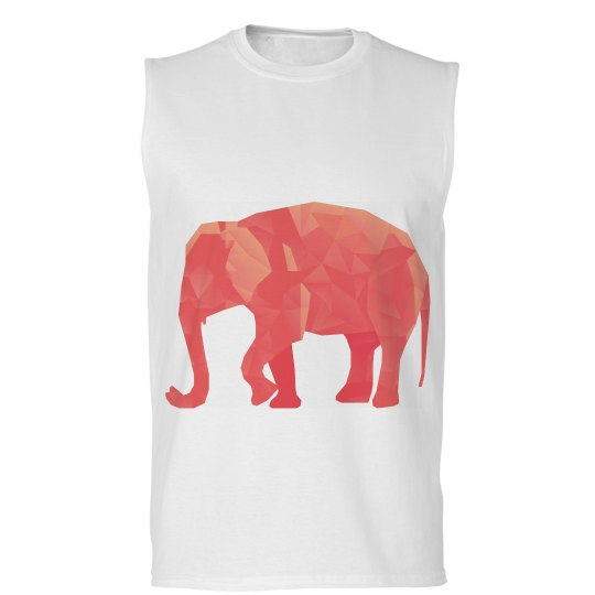 Red Polygonal Elephant