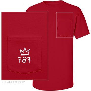 Red Shortsleeve Pocket Tee