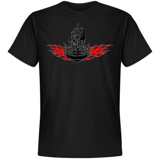 Red skull design