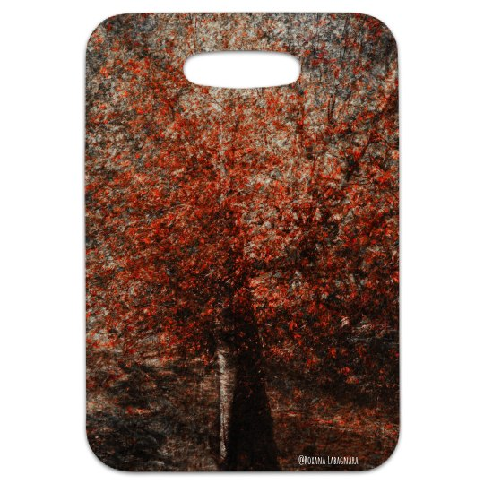 Red tree (luggage tag)