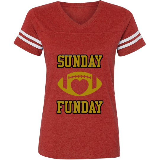 Red/gold/black ladies football jersey shirt