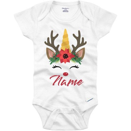 Reindeer Unicorn Crown Custom Name