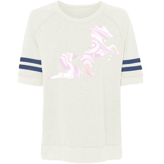 Relaxed unicorn tee sweatshirt - heather black/pearl