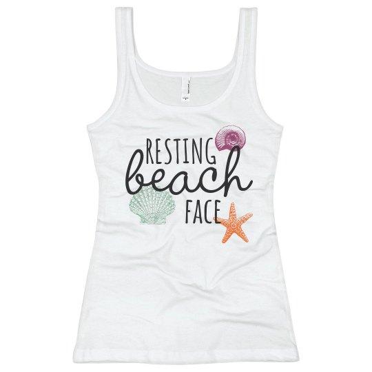 resting beach face -shells