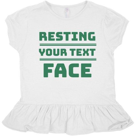 Resting Custom Text Face Ruffle Tee