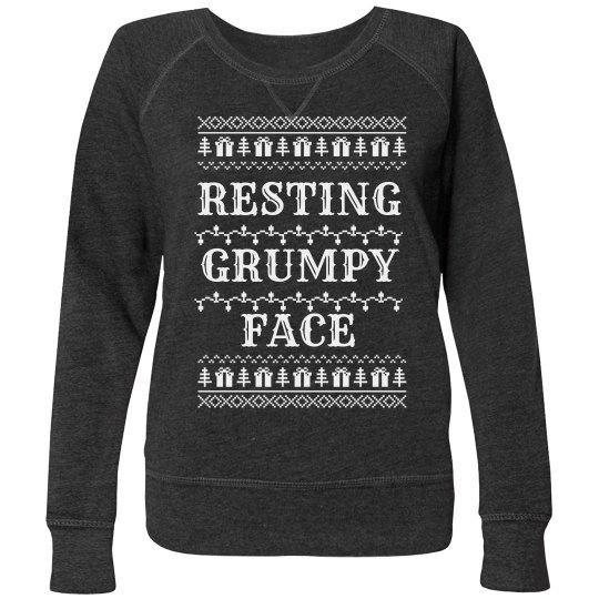 Resting Grumpy Face Plus Pullover