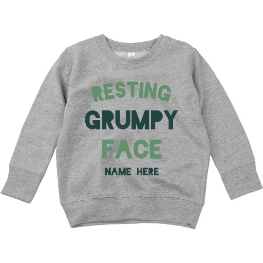 Resting Grumpy Face Toddler Sweater