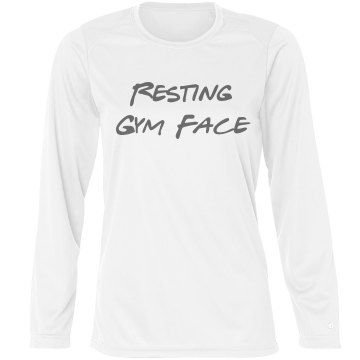 Resting Gym Face L/S Tee