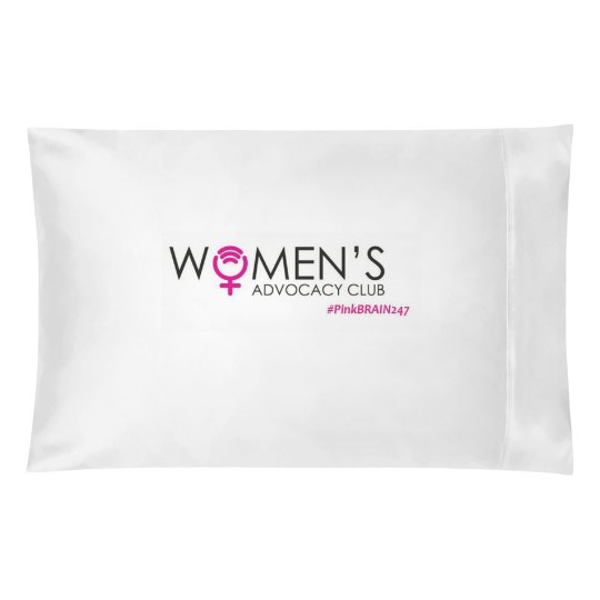 Resting Pink Brain Pillow Cover