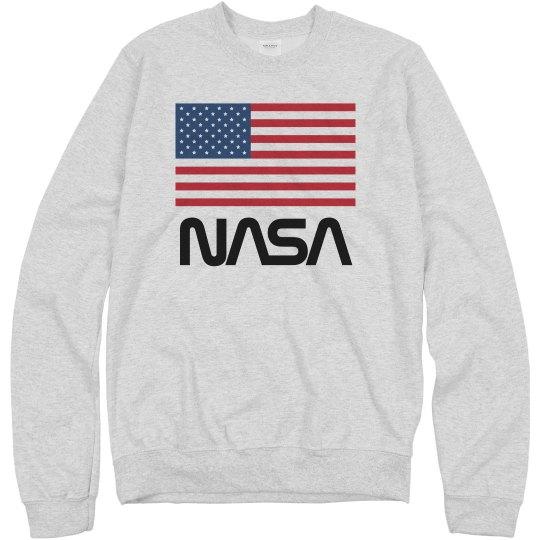 Retro NASA Worm American Flag