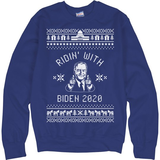 Ridin' With Biden Ugly Sweater