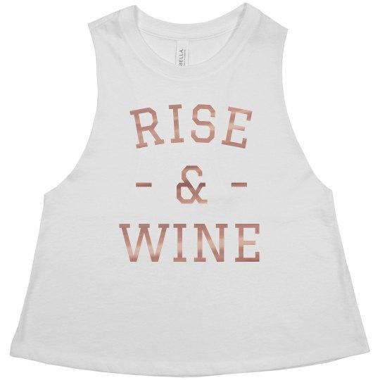 Rise & Wine Metallic Crop
