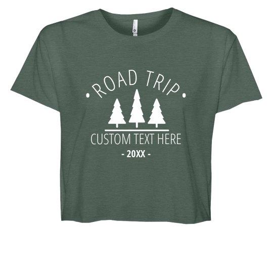 Road Trip Custom Crop Top
