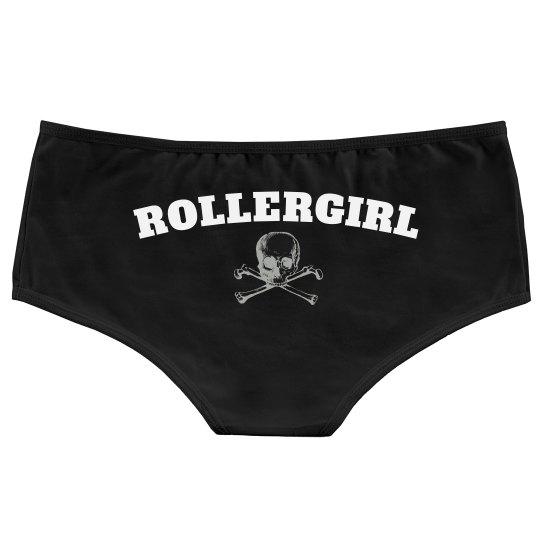Roller Girl Skull