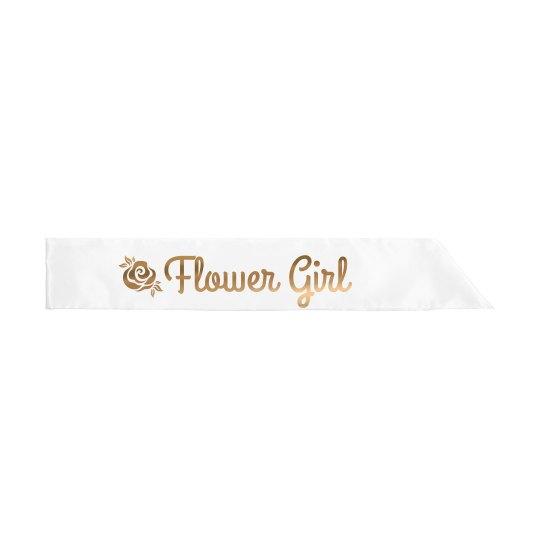 Rose Flower Girl Sash