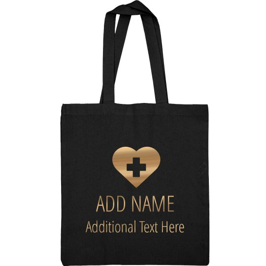 Rose Gold Custom Nurse Bag Add Text