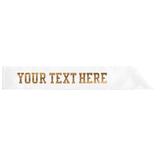 Rose Gold Metallic Custom Text