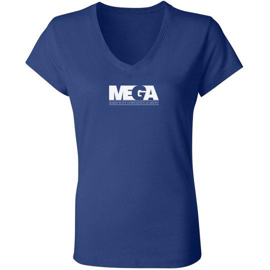 Roya Blue V Neck T Shirt