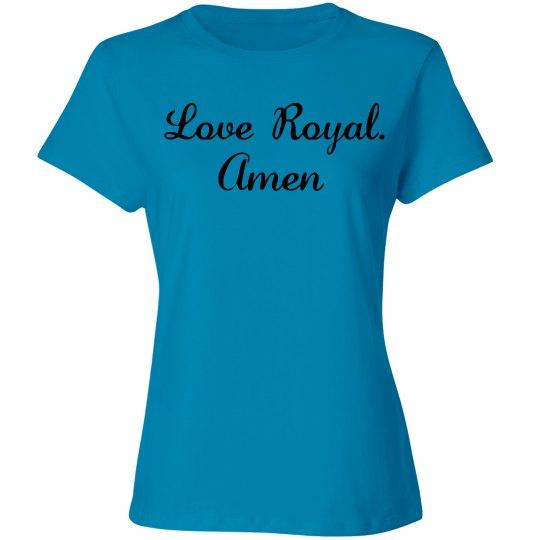 Royal's abbreviated prayer
