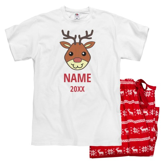 Rudolph Dad Custom Name Pajamas
