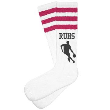RUHS BBall Socks