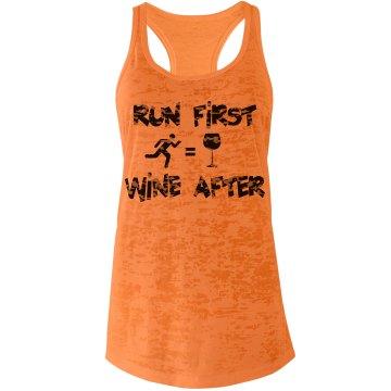Run First Wine After