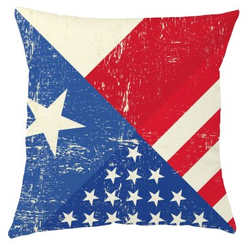 Rustic 4th of July pillow cover