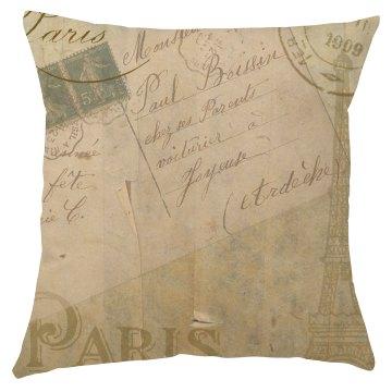 Rustic Paris Pillow