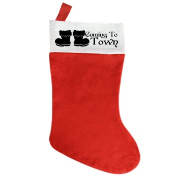 Santa Is Coming To Town Custom Stocking