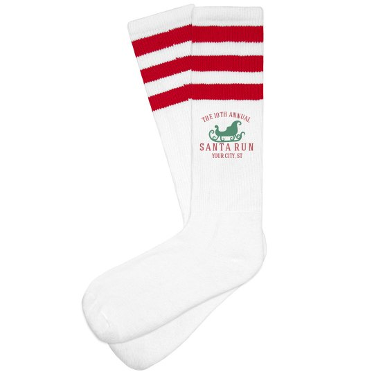 Santa Sleigh Running Socks