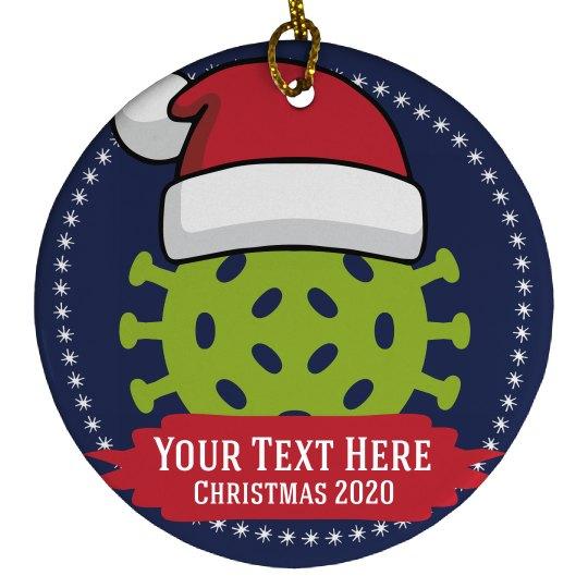 Santa Virus 2020 Christmas Ornament