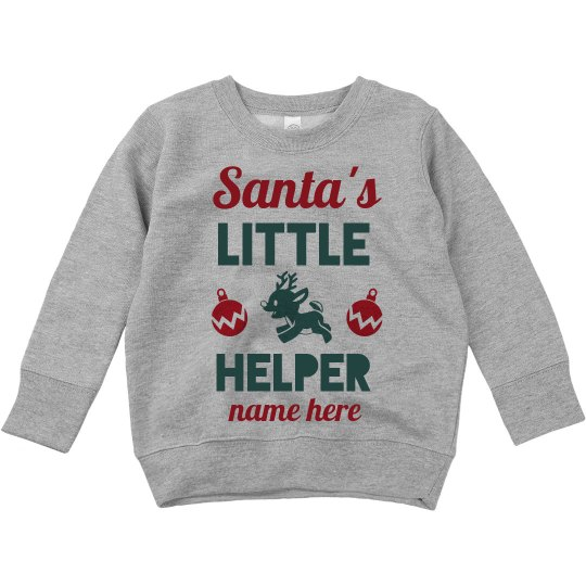 Santa's Little Helper Custom Toddler