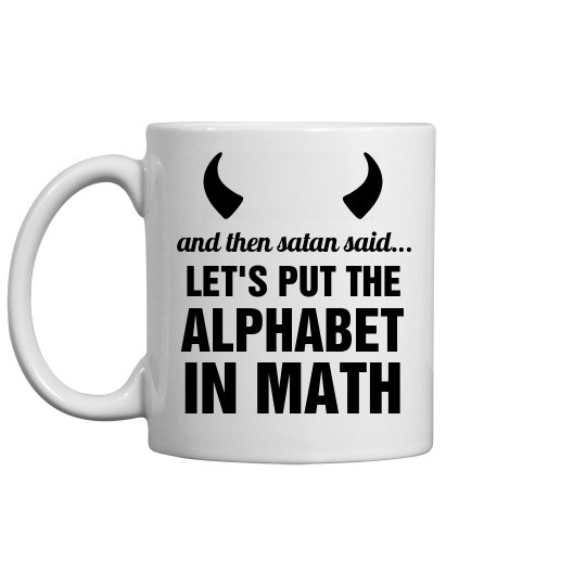 Satan's Math Custom Teacher Mug