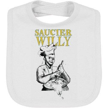 Saucier Willy Sketch Logo Baby Bib