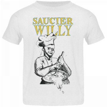 Saucier Willy Sketch Logo Toddler T-Shirt