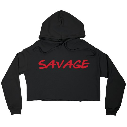 """""""Savage"""" Crop Sweatshirt (black)"""