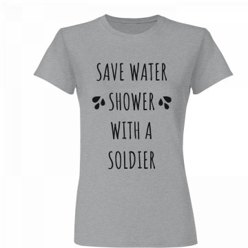Save Water Shower with a Soldier