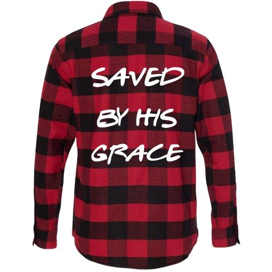 Saved by Grace (buffalo print)