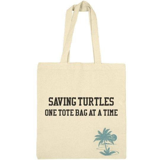 Saving Turtles, One Tote Bag At A Time