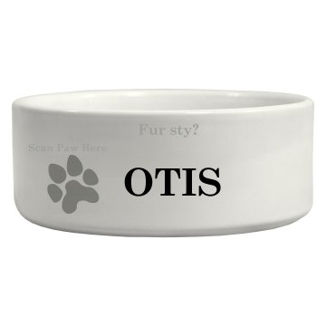 scan paws here dog bowl