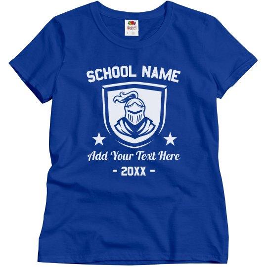 School Name Custom Mascot Tee
