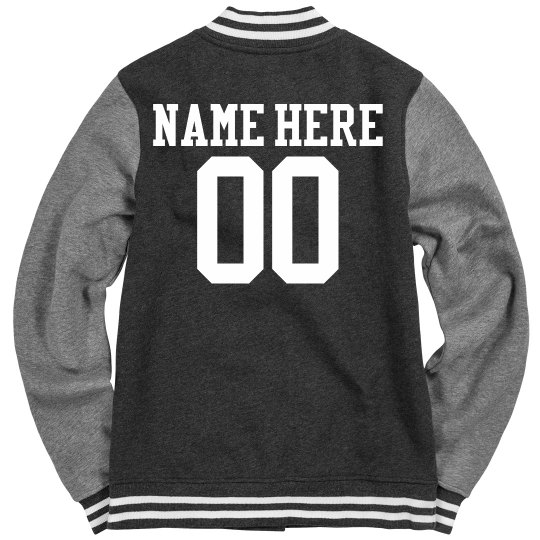 School Wrestling Girl Varsity Jacket With Name Number