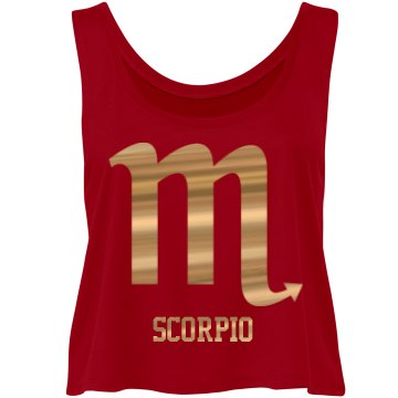 Scorpio Flowy Crop Top Tank ©