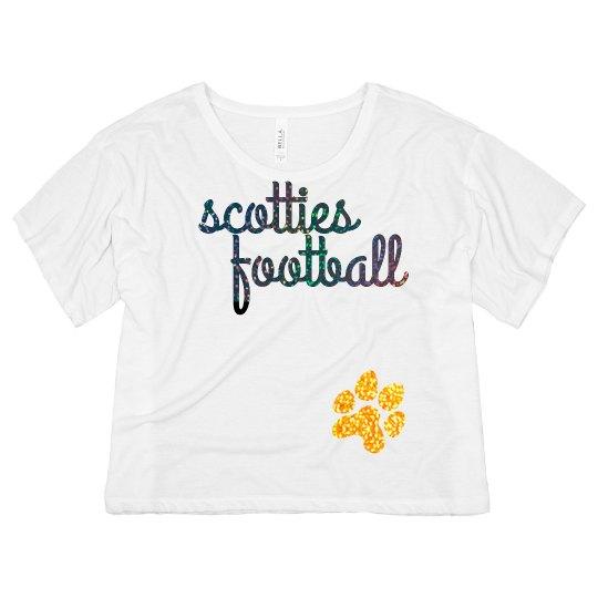 Scotties Football Glitter Flowy Crop top
