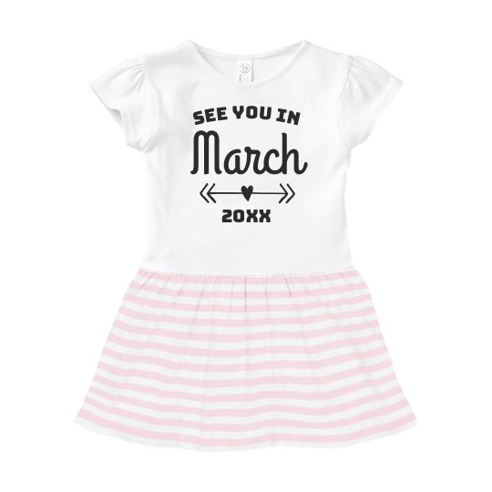 See You Soon Custom Baby Announcement Dress