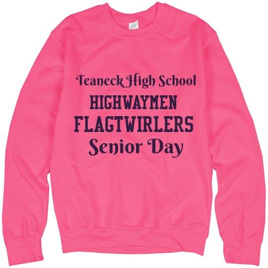 Senior Day Sweatshirt-Breast Cancer Awareness Month