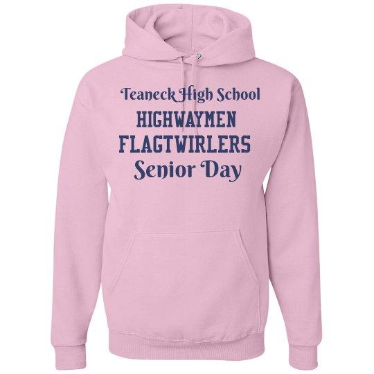 Senior Day Twirler Hoodie-Breast Cancer Awareness Month