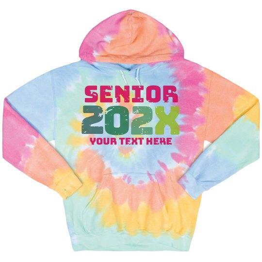 Senior Retro Tie-Dye Hoodie